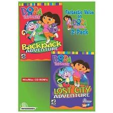 Video Game PC Dora The Explorer Backpack & Lost City Adventure NEW SEALED Box