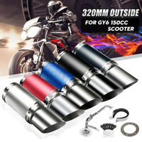 Scooter Short Performance Exhaust System Muffler 4 Stroke For GY6 125cc 150cc