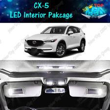 11x White LED Lights Interior Package Kit for 2013 - 2019 2020 Mazda CX-5 CX5