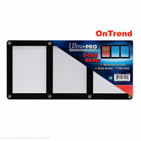 Ultra-Pro Black Frame 3-Card Holder for Trading and Collectors Cards - NEW