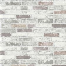 Erismann Wallpaper - Stone Wall / Brick Optic - Natural Grey - Textured 6703-10