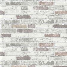 Erismann Wallpaper - Stone Wall / Brick Optic - Natural Grey - Textured 6703-10
