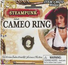 Steampunk Cameo Ring Victorian Fancy Dress Up Halloween Adult Costume Accessory
