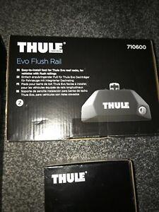 Thule 7106 Evo Flush Rail Foot Pack Plus Fitting Kit / Brand New in Boxes.