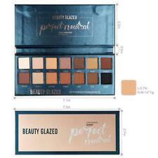 BEAUTY GLAZED Makeup Eyeshadow Palette Glitter Matte Pressed N Warm Natural K4O0