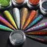 Nagel Glitzern Pulver Silver Holographisch Nail Dust Pigment Nail Art Dekoration