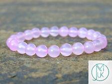 Pink Agate Dyed Natural Gemstone Bracelet 7-8'' Elasticated Healing Stone
