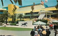 Boelter 1950s Hollywood Park California Inglewood Track Lake postcard 10908