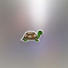 Little Turtle Patch — Iron On Badge Embroidered Motif — Cute Tortoise Shell