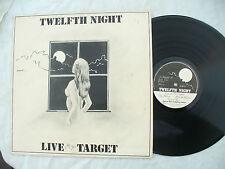 TWELFTH NIGHT LP LIVE AT THE TARGET tn002 ..... 33rpm / rock