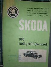 SKODA 100 - 100L - 110L 1969 : Catalogue de pièces détachées