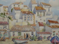 WATERCOLOUR PORTUGAL LISTED SCOTTISH ARTIST SYDNEY ARROBUS FREE SHIPPING ENGLAND