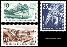 EBS East Germany DDR 1957 Coal Mining Kohlebergbau Michel 569-571 MNH**