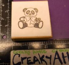 Panda Bear Stuffed Bow Rubber Stamp Co-Motion Comotion May Be