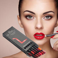 12 Colors Waterproof Matte Makeup Lipstick Pen Set Long lasting Lip Liner Pencil