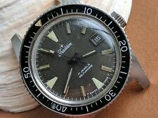 Vintage Sears Tradition Divers Watch w/Bakelite Bezel,Warm Patina,All SS Case