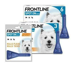 Small Dog Flea Tick Lice Mites Spot On Treatment FRONTLINE Pipette 1-6 Size Pack