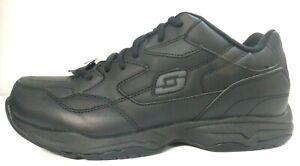 Skechers Men's Felton Work Shoes Slip Resistant Black, memory foam Relaxed Fit