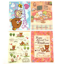 San-X Rilakkuma Charactor Plastic A4 File Folder - 4 Assorted Color - E (24c42)