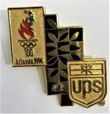 UPS GOLD BLACK ATLANTA 1996 OLYMPICS PIN COLLECT #1124
