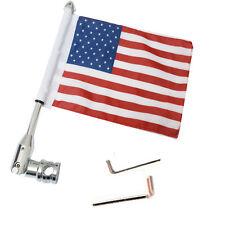 Motorcycle Flag Pole Mount 6 x 9 Flag American USA for Yamaha Harley Honda Bike