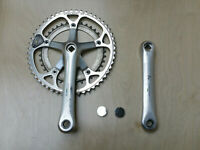 Shimano 600 Tricolor Double Crankset 170mm 52/39 FC-6400 Biopace made in Japan