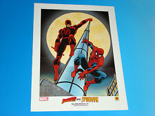 Classic Daredevil Vs Spider-Man Lithograph John Romita Art Limited Marvel Comics