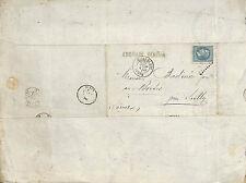 LES BORDES BADINIER PHILATELIE NAPOLEON LETTRE ENGRAIS JAMES BOUTIN PARIS 1870