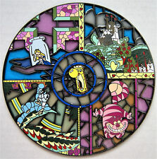 ALICE IN WONDERLAND CHESHIRE CAT DOORKNOB STAINED GLASS 4 IN FANTASY PIN LE 100