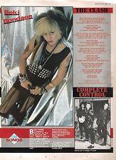 BEKI BONDAGE Clash 'Complete Control' lyrics magazine PHOTO/Clipping 11x8 inches