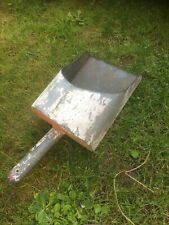 """More details for large vintage grain/animal feed galvenised scoop ladle 14"""" lots of patina"""