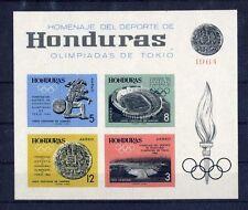 TOP HONDURAS 1964, MiNr. Block 6 B, **, postfrisch, LUXUS, Olympia, E10