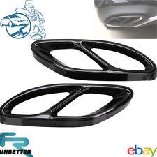 2 V8 Look Auspuffblende Auspuff Abdeckung für MercedesBenz A/B/C/E W176 S212-
