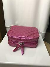 Trish Mcevoy Pink Metallic Petite Quilted Planner EUC