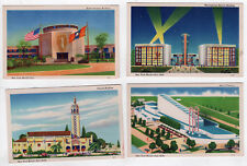 1939 NEW YORK WORLD'S FAIR Postcard Lot PC Florida Building WESTINGHOUSE Fashion
