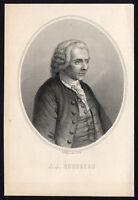 Antique Print-PORTRAIT-JEAN JACQUES ROUSSEAU-PHILOSOPHER-Leguay-Ingouf-1820