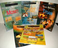 History & Techniques Of The Great Masters, Monet, Titan Etc  5 Book Bundle.