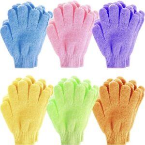Exfoliating Gloves Body Scrub Shower Bath Mitt Loofah Skin Massage Spa - PAIR