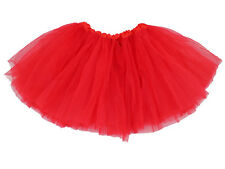Childrens 5 Layer Tutu Skirt Ballet Dancewear Party Costume Skirt Red