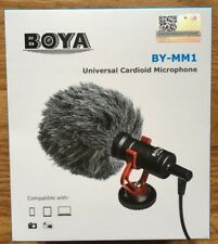 BOYA MM1 Shotgun Microphone for iPhone, Android Smartphone, Canon, Nikon, Camera