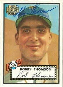 2001 TOPPS ARCHIVES SIGNED AUTO #240 BOBBY THOMSON NEW YORK GIANTS CARD