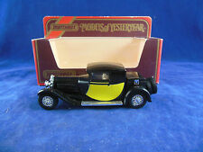Rare Matchbox Yesteryear Y24 1927 Bugatti T44 In Black & Yellow Panels  Issue 12