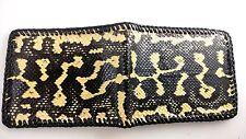 NEW Authentic PYTHON SKIN Wallet bi-Fold Men Billfold Gator Original Slim Pocket