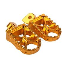 Gold CNC Foot peg Footrests For Yamaha YZF250 01-13 YZF450 03-13 YZ426F 00-02 01