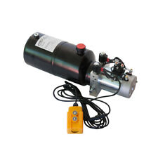 12 Volt Hydraulic Pump for Dump Trailer - 6 Quart Steel - Double Acting