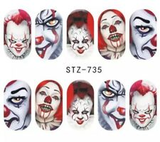Nagelsticker Nagel Tattoos Es Pennywise Horror Clown Killer Clowns Nail Sticker