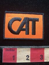 Vtg Black On Orange CAT Advertising / Uniform Patch 76YG