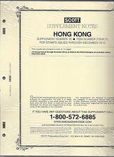 Scott Specialty Hong Kong Supplement 2015 275HK15