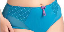 Elomi Betty Collection L Brief Panty Turquoise Polka Dot PANTY ONLY New