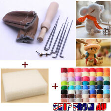 20 Colour DIY Wool Needles Felt Tool Set Needle Felting Mat Starter Kit Craft
